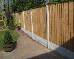 Concrete Post and Timber Panel Fencing